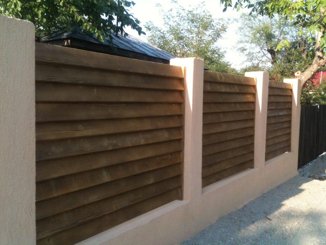 modele gard lemn vertical garduri din lemn modele